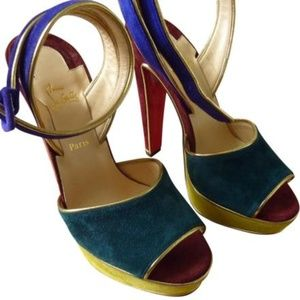 Christian Louboutin Multicolor 'louloudance' Suede